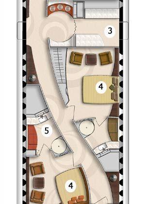 3 - Küche mit Herd, Ofen, Kühlschrank und Geschirrspüler auf Wunsch 4 - Zwei Schlafzimmer für Gäste 5 - Zwei Badezimmer für Gäste, inklusive Duschen (gegenüberliegend)
