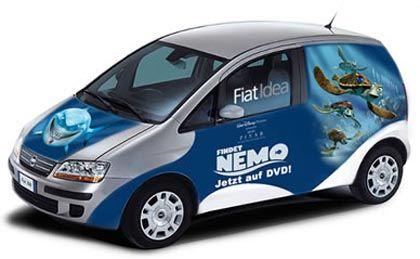 Rollendes Aquarium: Nemo auf dem Fiat Idea