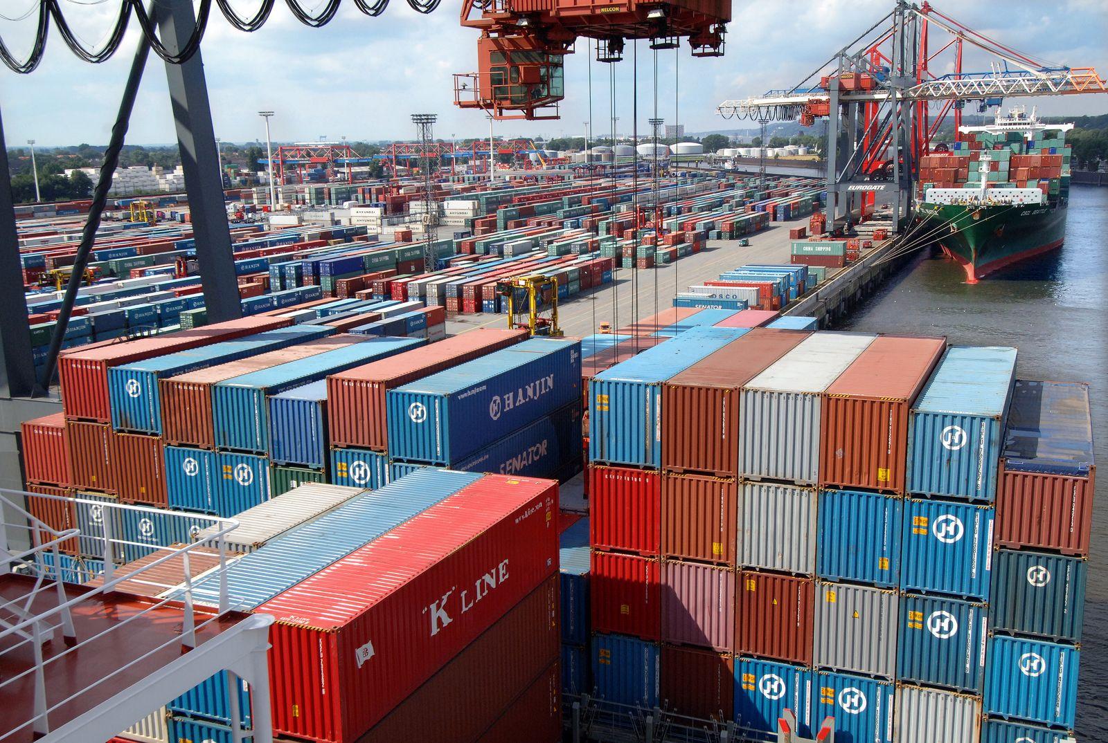 Deutschland / Export / Konjunktur / Container / Hamburger Hafen