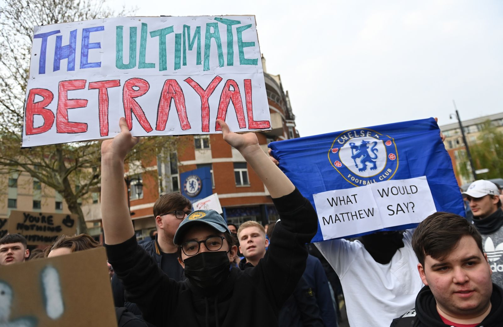 Protest against planned Super League