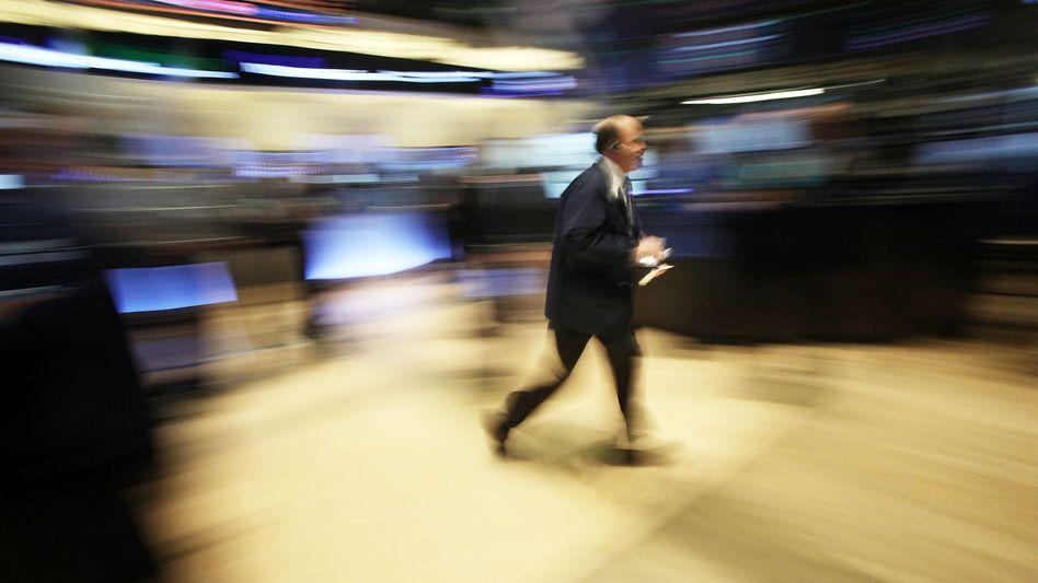 Hektik an der Börse in New York: Händler unter Druck
