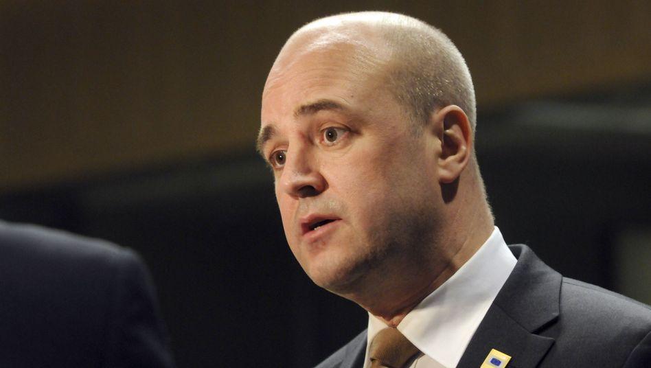 """Schwedens Premier Fredrik Reinfeldt: """"Wir müssen sicher sein, dass schwedische Steuergelder nicht die Verluste von Banken in anderen Ländern decken"""""""