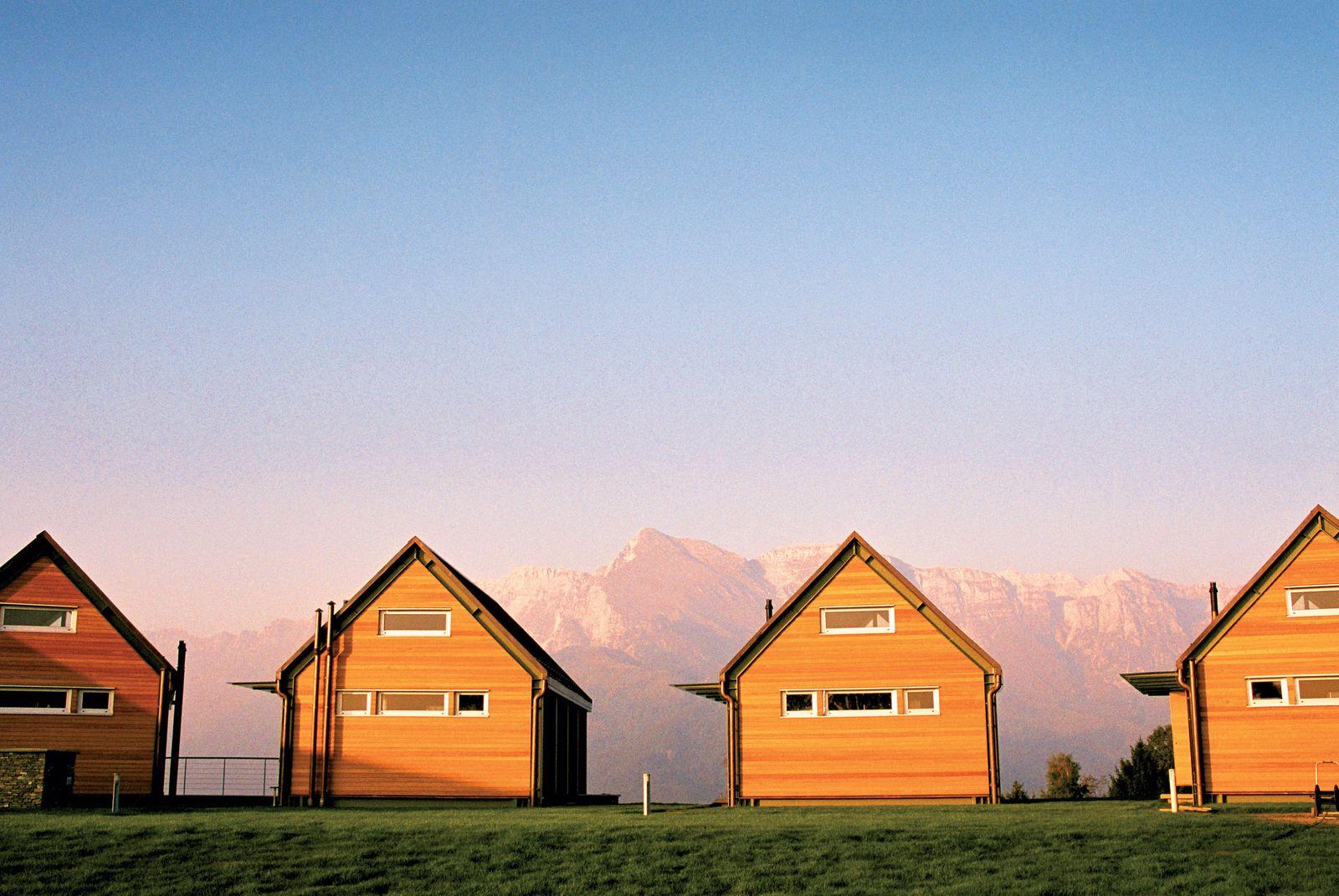 EINMALIGE VERWENDUNG Urlaubsunterkünfte in Nebesa über dem Soca Tal