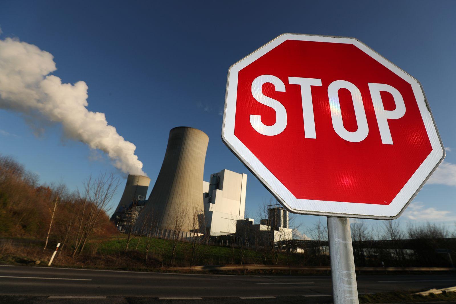 RWE / Kohle / Kraftwerk / Stopschild