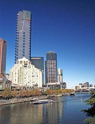 Spektakuläre Aussicht: Der Eureka Tower ist fast 300 Meter hoch und damit das höchste Gebäude in Melbourne