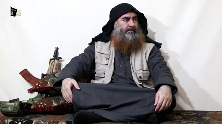 Tod im Tunnel: IS-Führer Abu Bakr al-Baghdadi (hier in einem Video vom April)