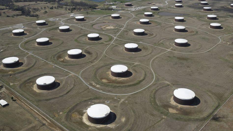 Ausgebucht: Öllager in Cushing, US-Staat Oklahoma, dem Handelsort der Sorte West Texas Intermediate