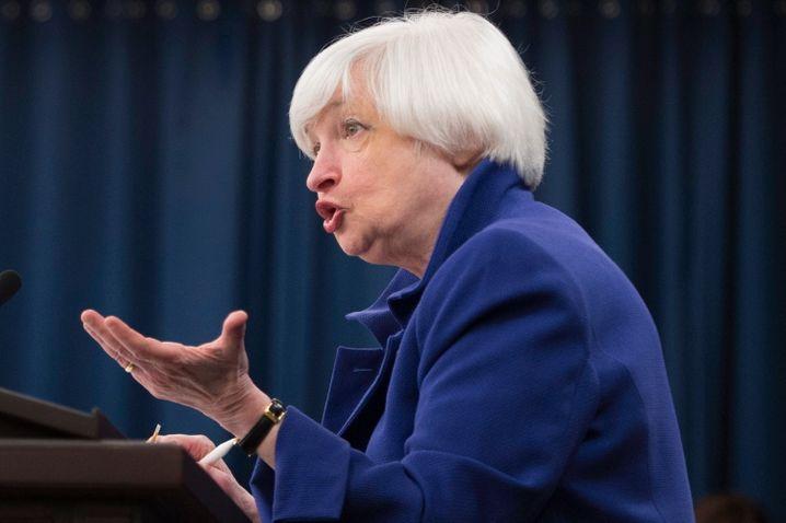 Fed-Chefin Janet Yellen: An ihren Entscheidungen hängt das wirtschaftliche Schicksal der Welt