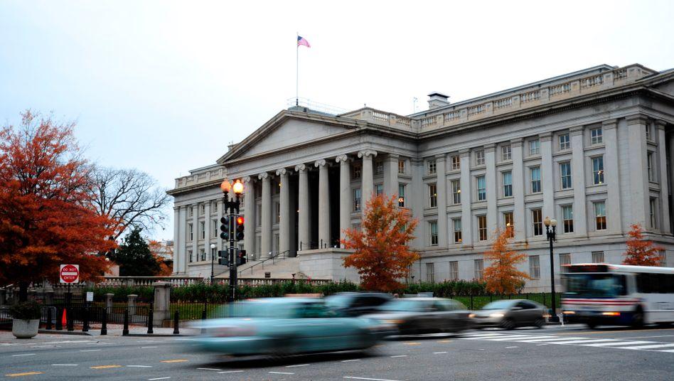 """US-Finanzministerium in Washington: Die USA belegen auf dem """"Schattenfinanzindex"""" den unrühmlichen zweiten Platz nach den Cayman Islands"""