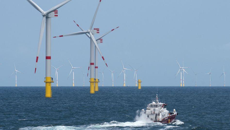 Senvion-Windpark in der Nordsee: Das Unternehmen hat 100 Millionen Euro an Krediten erhalten