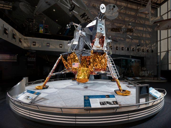 In den 1960er und 1970er Jahren nicht verwendet, heute ein Museumsstück: Im National Air and Space Museum in Washington können sich Besucher diese Mondlandefähre anschauen.