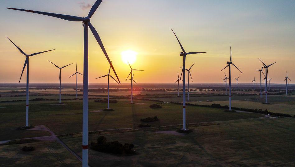 Windräder in Jacobsdorf (Brandenburg): Tesla könnte vom Stromüberschuss profitieren - und mit eigenen Tesla-Stromtarifen angreifen
