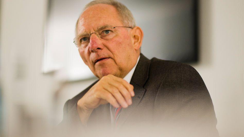 """Bundesfinanzminister Schäuble: """"Es geht durchaus auch mal steil den Berg rauf"""""""
