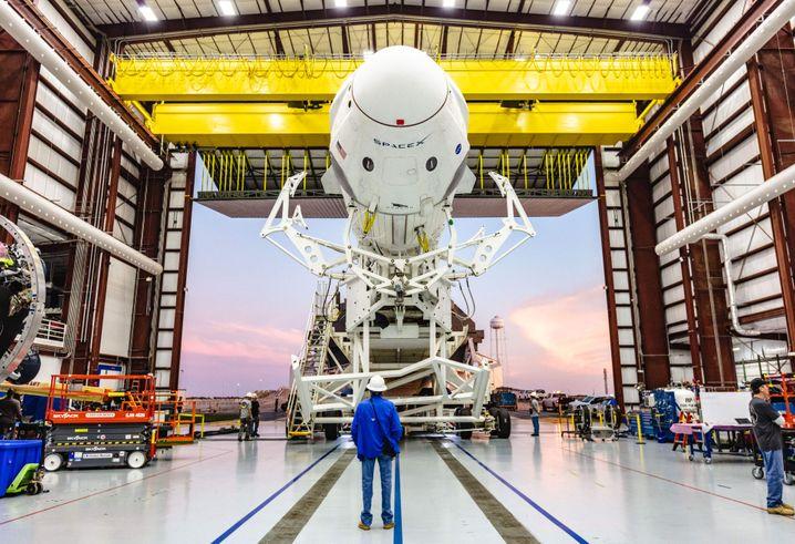Aufbruch: SpaceX-Rakete