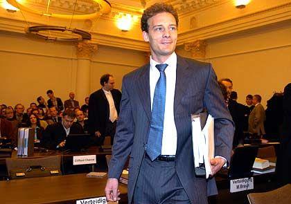 Angeklagter: Alexander Falk im Sitzungssaal des Hamburger Landgerichts
