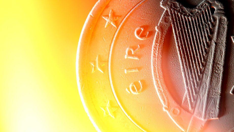 Ein irischer Euro: Ein Kreditrahmen von bis zu 85 Milliarden Euro für Irland soll die Gemeinschaftswährung stärken und die Märkte beruhigen
