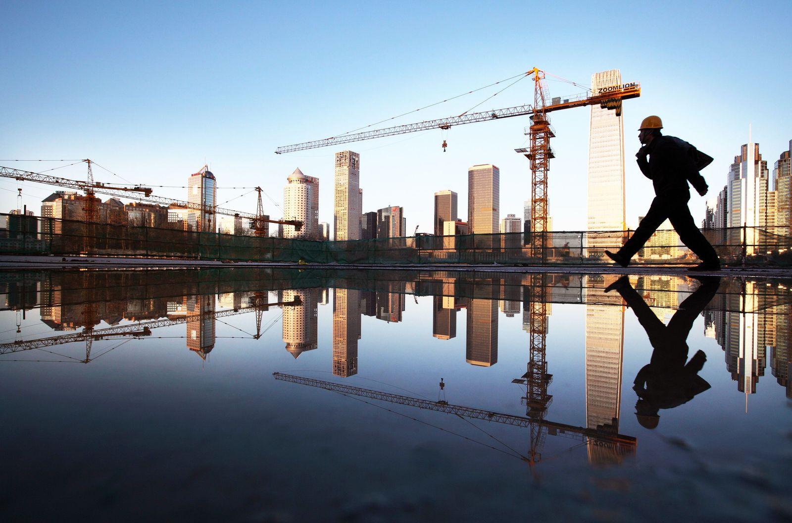 China / Konjunktur / Wirtschaft / Baustelle / Bau-Kräne