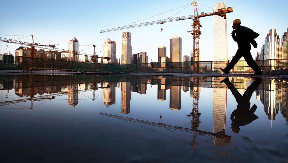 Baustelle in Peking: Chinas Wachstum ist im internationalen Vergleich weiterhin sehr hoch