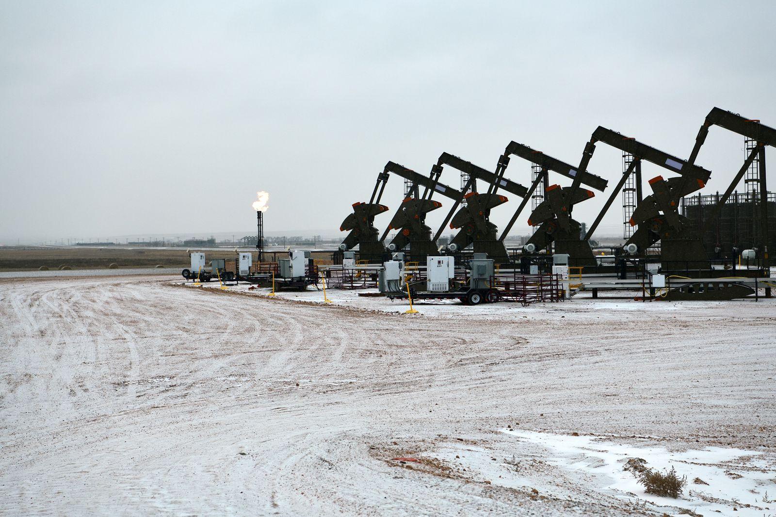 Pumpjack at Williston, North Dakota, USA