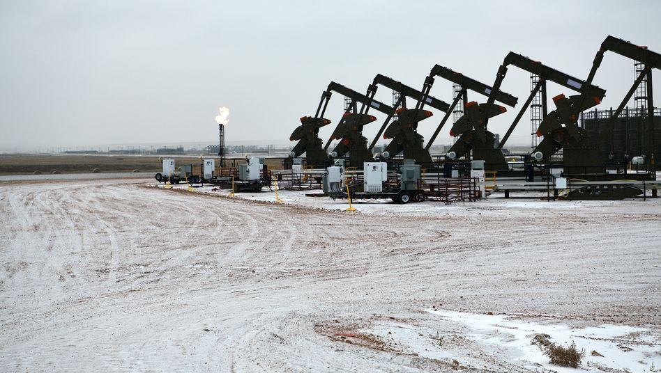 Ölpumpen in Williston, North Dakota.