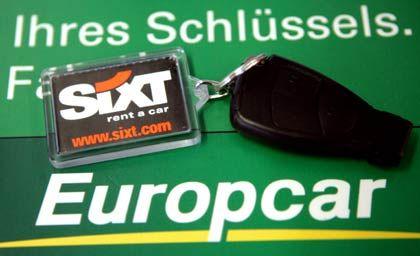 Grün-orangefarbenes Zusammenspiel: Sixt hat angeblich nur noch einen Konkurrenten im Bieterwettstreit um Europcar