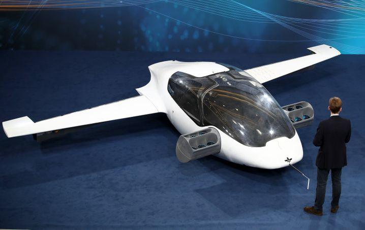 Prototyp: Flugtaxi von Lilium auf dem Digitalgipfel in Nürnberg 2018