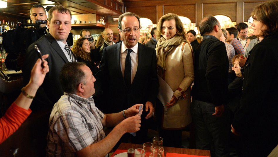 Wahlsieger: François Hollande am Wahltag in seiner Heimatstadt Tulle