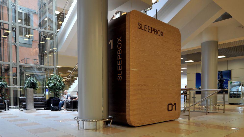 Schlafboxen: Lauschiges Plätzchen am Terminal