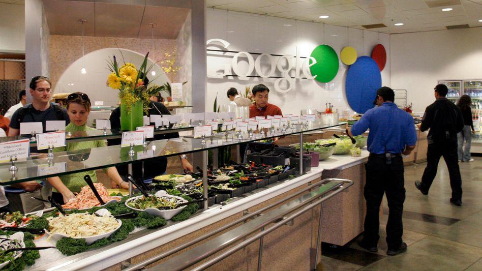 Schon 2008 bekamen Google-Mitarbeiter in Mountain View ihr Mittagessen gratis.