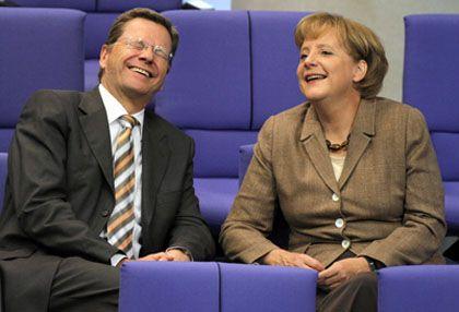 Merkel, Westerwelle: Korrekturen von schwarz-roten Beschlüssen