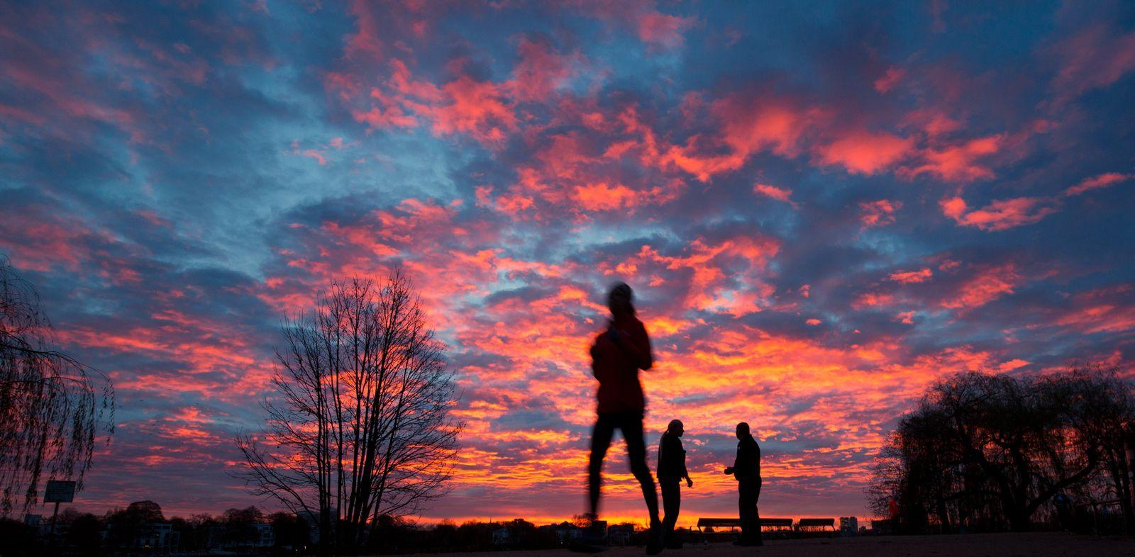 Joggen / Laufen / Sonnenaufgang