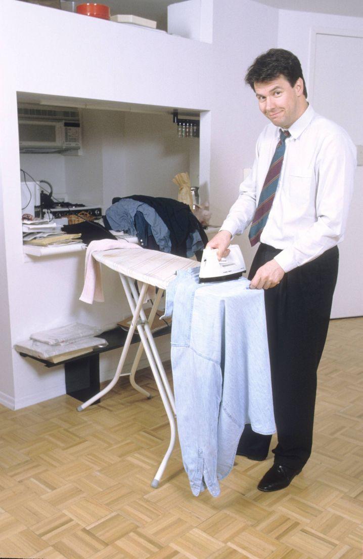 Krawatte auch beim Bügeln? Eine Frage des persönlichen Geschmacks.