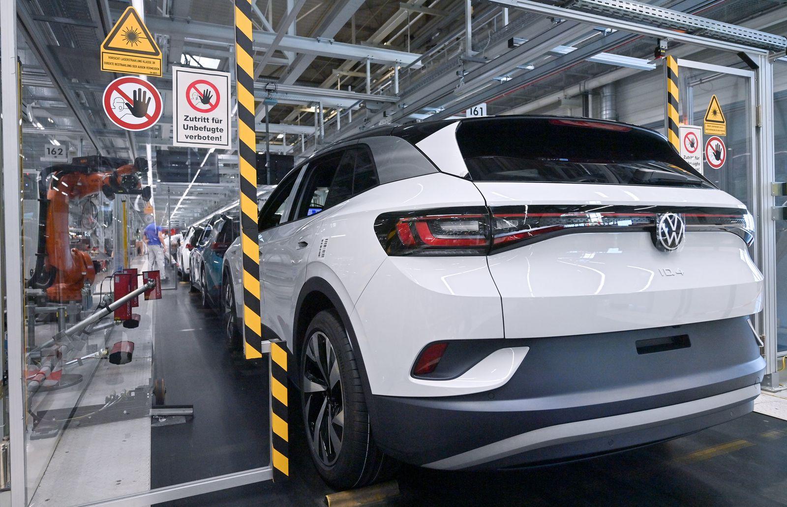 Produktion des ID.4 von Volkswagen
