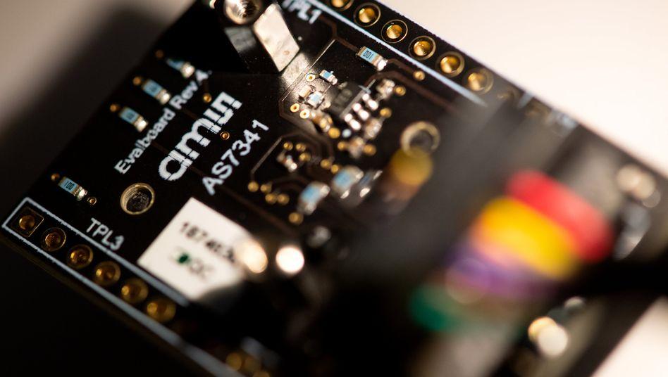 Platine von AMS: Der österreichische Sensorhersteller ist trotz Corona gut in das neue Jahr gestartet