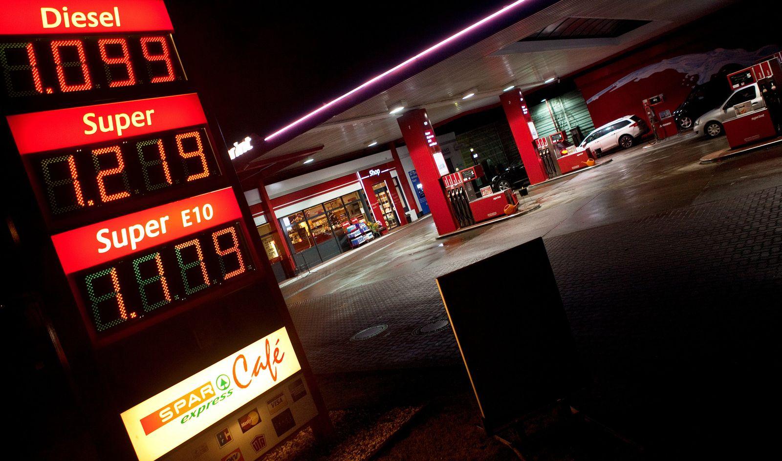 Tankstelle, Ölpreis