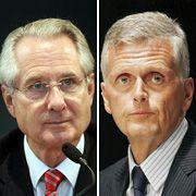 Wehrten sich bislang gegen Vorwürfe: Ex-Telekom-Chefaufseher Zumwinkel (l.) und der ehemalige Vorstandsvorsitzende Ricke