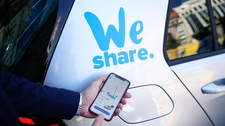 """Schwieriges Geschäft: Volkswagen zeigt Zweifel an der Perspektive von Carsharing-Diensten wie seinem eigenen """"We Share"""""""