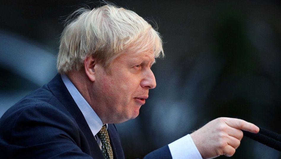 """""""Erlaubnis, den Fuchs in den Hühnerstall zu lassen"""": Die Regierung von Premier Boris Johnson (Bild) erntet für die Entscheidung, Huawei am Aufbau des britischen 5-G-Netzes zu beteiligen, durchaus erhebliche Kritik."""