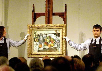 Paul Cézanne: Stillleben mit Vorhang, Krug und Obstschale