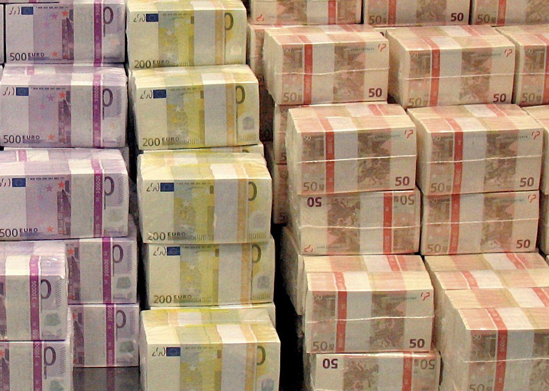 Scheine / Geld / Geldstapel / Noten / Banknoten / Euro