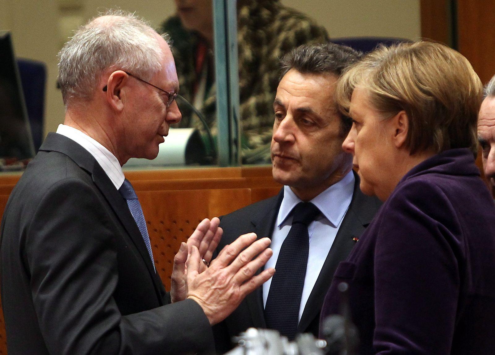 Merkel/ Sarkozy/ Van Rompuy