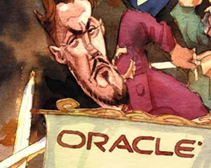 Softwareplattform: 10g Funktionsweise: Oracle will seine Plattform auf eine spezielle Form der IT-Fabrik aufbauen. Darin besteht der Rechnerpool aus vielen kleinen, gegebenenfalls räumlich verteilten Standardservern, einem so genannten Grid. Diese sehr kostengünstige Struktur bedient 10g mit den üblichen Funktionen - von Integration der Anwendungen bis zum Management des Systems. Programmsprache: Java. Fertigstellung: Die 10g-Plattform ist seit 2004 erhältlich. Die 10g-Plattform ist seit 2004 erhältlich. Markt: Etwa 10 Prozent der Oracle-Kunden installieren 10g. Oracle muss mehr Softwarehersteller überzeugen.