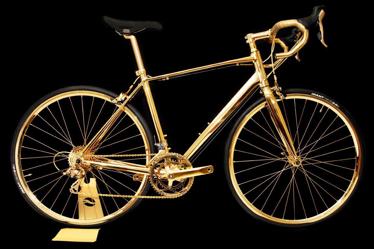 EINMALIGE VERWENDUNG Luxusrad; Hersteller Goldgenie; Gold Bike