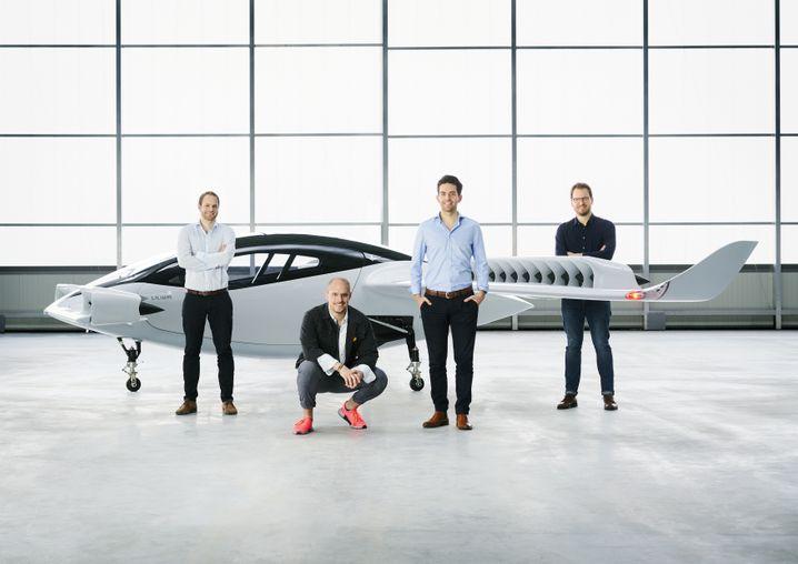 Die Gründer: Designchef Sebastian Born, Produktmanager Patrick Nathen, CEO Daniel Wiegand und Chefingenieur Matthias Meiner (v.l.n.r.).