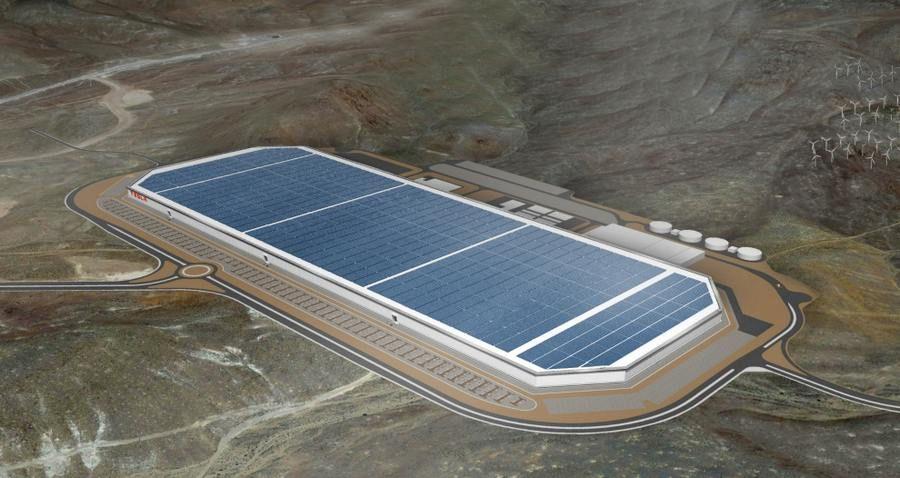 Tesla-Gigafactory in Nevada (Skizze): Volkswagen zieht offenbar nach