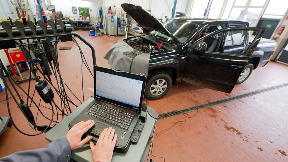 Software-Update für einen VW Amarok