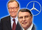 Jürgen Schrempp (l.) verschaffte Klaus Mangold einen Vorstandsposten