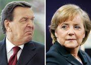 Wählerschwund:Noch-Kanzler Gerhard Schröder und seine designierte Nachfolgerin Angela Merkel