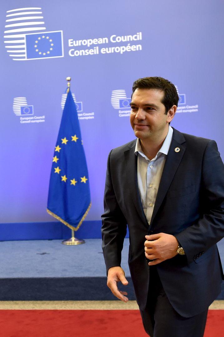 Das Beste für Griechenland erreicht, das möglich war: Premier Tsipras muss jetzt das griechische Parlament von dem Kompromiss heute Morgen überzeugen