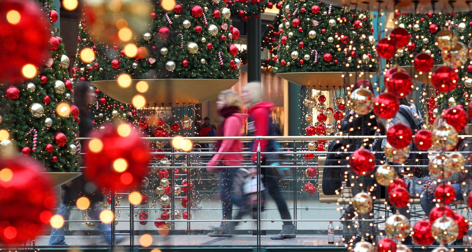 Letzte Einkäufe zu Weihnachten